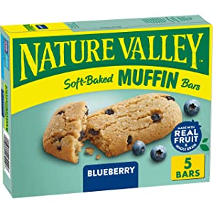 Nature Valley Soft-Baked Muffin Bars Blueberry, 6.2 oz, 5 ct