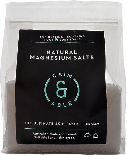 Caim & Able Magnesium Flakes Bulk 2kg - Pure Unscented Natural Chloride - Australian Made Bath Salts - Magnesium Supp...