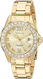 Women's Pro Diver 38mm Gold Tone Stainless Steel Quartz Watch, Gold (Model: 15252)