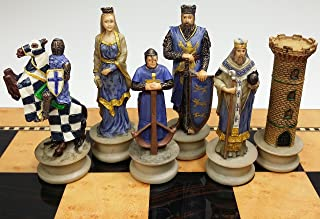 medieval chess sets and boards