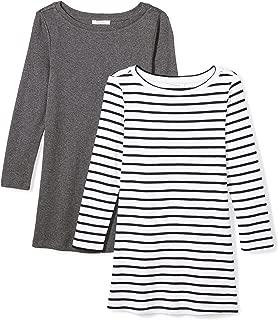 Amazon Brand - Daily Ritual Women's Midweight 100% Supima Cotton Rib Knit 3/4-Sleeve Boat Neck T-Shirt, 2-Pack