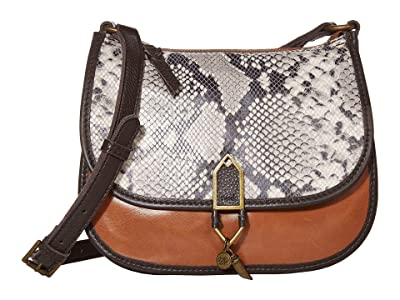 The Sak Playa Leather Saddle Bag (Snake Multi) Handbags