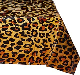 Beistle 57850 Leopard Print Tablecover, 54 by 108-Inch