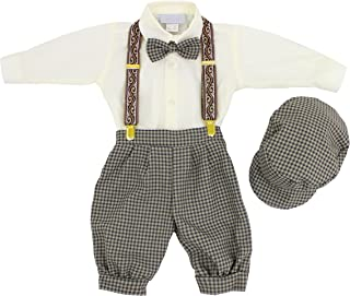 Vintage Baby Boys Toddlers Houndstooth Knicker Sling Set