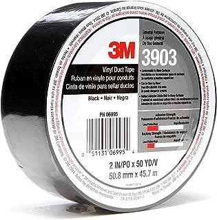 3M Vinyl Duct Tape 3903, Black, 2 in x 50 yd, 6.5 mil