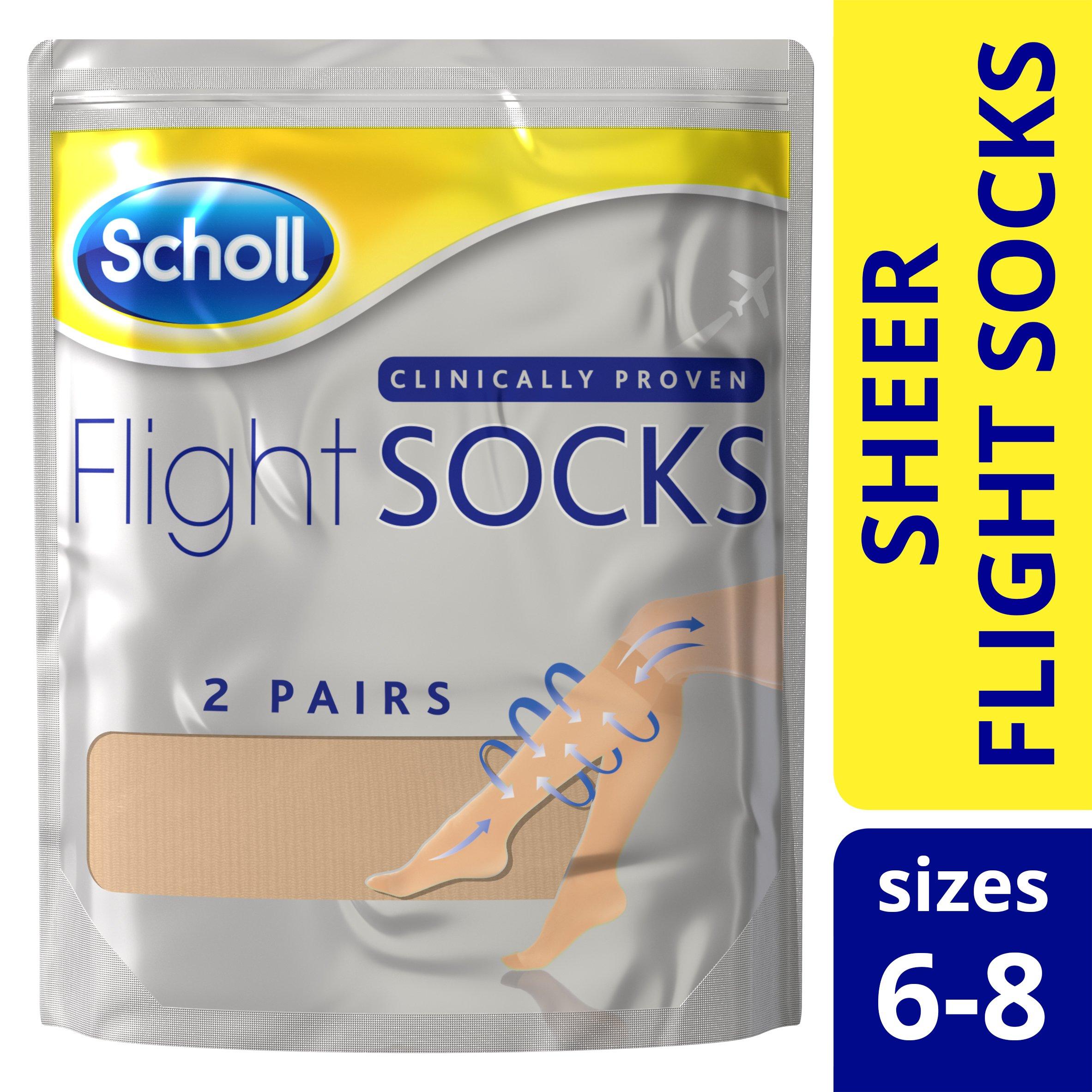 Travel Socks 4-7 uk Black Sockshop 2 Pairs 40 Denier Compression DVT Flight