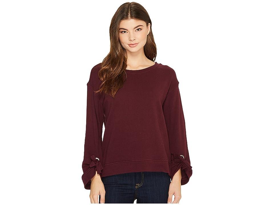 Splendid Grommet Sweatshirt (Deep Plum) Women
