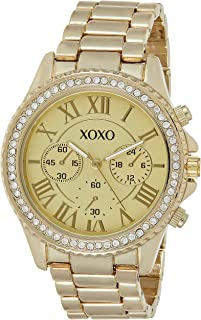 XOXO Womens Quartz Watch, Analog Display and Stainless Steel Strap XO5937