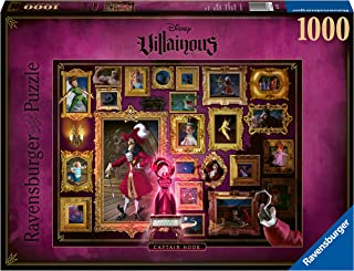 Ravensburger Disney Villainous Captain Hook 1000 Piece Jigsaw Puzzle for Adults – Every Piece is Unique, Softclick Technology Means Pieces Fit Together Perfectly