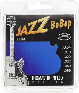 Dr Thomastik BB114 Jazz Guitar Strings: Jazz Bebop Series 6 String Set - Pure Nickel Round Wounds E, B, G, D, A, E Set