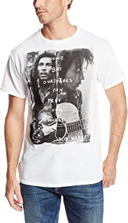 Zion Rootswear Men's Bob Marley Free Our Minds White T-Shirt