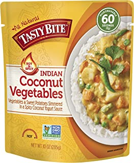 Tasty Bite Indian Entrée Hot & Spicy, Coconut Vegetables, 10 Ounce, Pack of 6