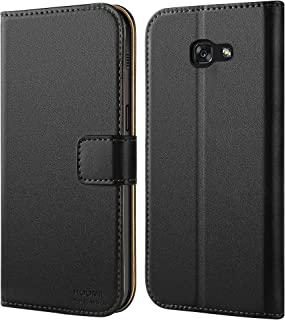 HOOMIL Premium Leather Flip Wallet Phone Case Cover for Samsung Galaxy A5 2017 - Black