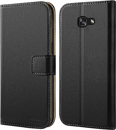 HOOMIL Galaxy A5 2017 Hülle, Handyhülle Samsung Galaxy A5 (2017) Tasche Leder Flip Case Brieftasche Etui Schutzhülle für Samsung A5 2017 Cover - Schwarz (H3034)