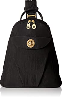 Baggallini Dallas - Stylish, Lightweight, Mini Backpack With Gold Backpack Hardware, Travel Bag Converts to Wear as a Sling
