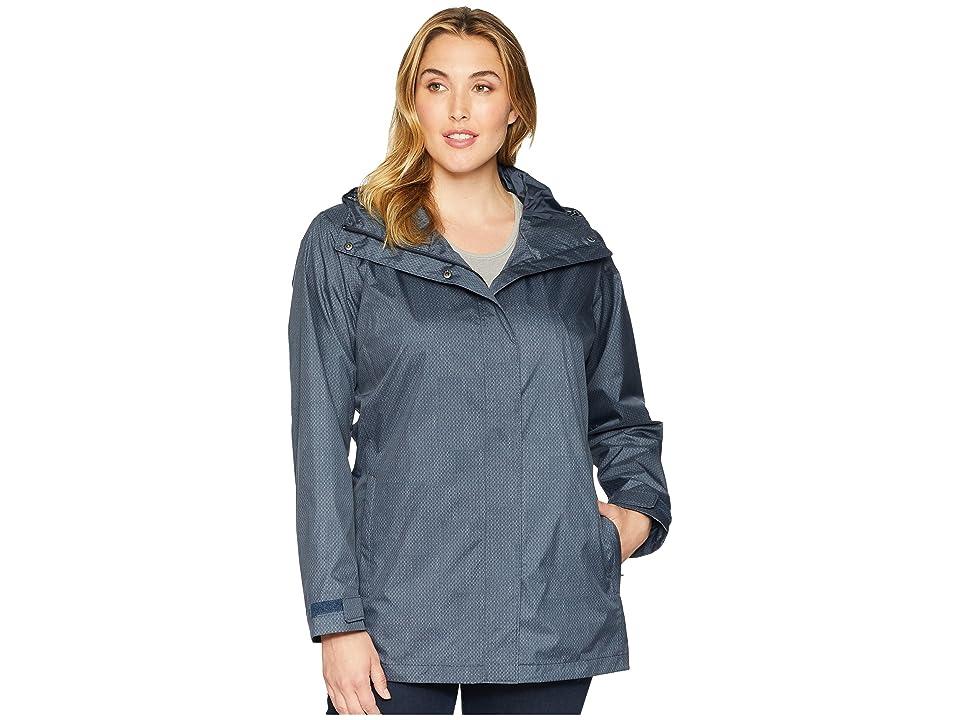 Columbia Plus Size Splash A Little II Rain Jacket (India Ink Starts Print) Women