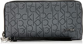Calvin Klein Women's Hayden Large Zip Round Wallet, Asphalt/Black, One Size