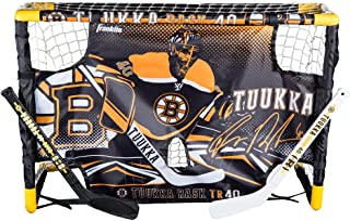 Franklin Sports Tuukka Rask Tuukka Rask Mini Hockey Knee Hockey Goal, Mini Stick, Target & Ball Set - NHL Official License...