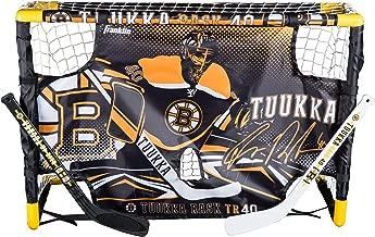 Franklin Sports Tuukka Rask Tuukka Rask Mini Hockey Knee Hockey Goal, Mini Stick, Target & Ball Set - NHL Official Licensed Product