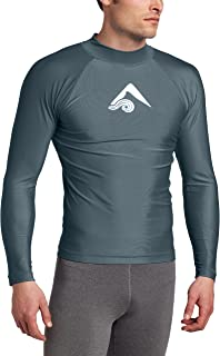 Kanu Surf Men's Long-Sleeve Platinum UPF 50+ Rashguard