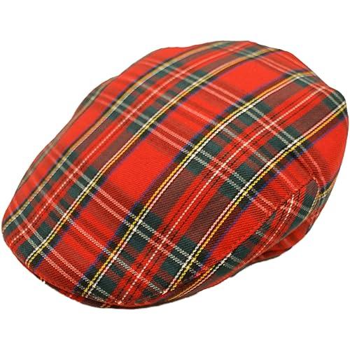 4688d2f280bf4 Hawkins Men s Scottish Tartan Flat Cap in 2 Colours   Sizes