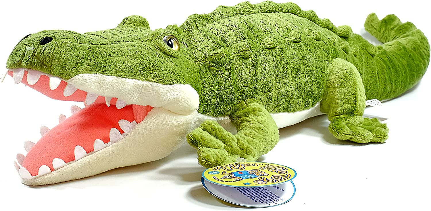 Carioca the Crocodile   13 Inch Large Alligator Stuffed Animal Plush   By Tiger Tale Toys