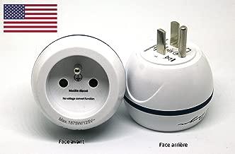 Adaptateur De Voyage France Vers États-Unis / USA - Gamme Bulle- BB0166 - LTE Design - Leach Travel Europe