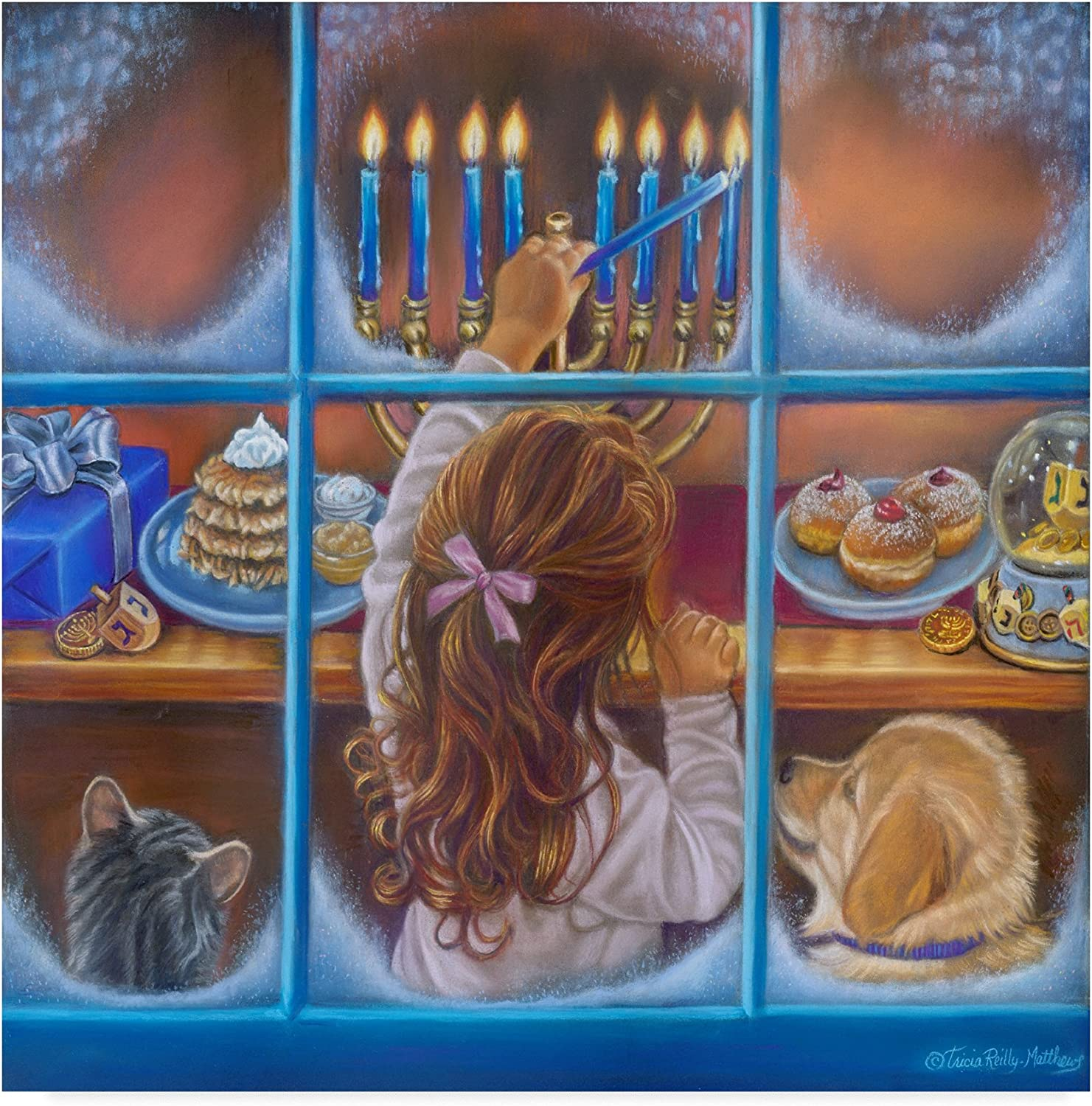 My Hanukah Wish by Tricia Reilly-Matthews, 14x14-Inch