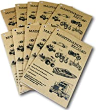 Peaceful Creek Manuals Maintenance Record, Service Repair Log Book, 10pk.: Automotive, Recreational Vehicle, Construction Equipment, Tractor, Truck, Boat, Auto, OSHA Approved (10)