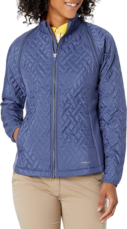 Cutter & Buck Women's Weathertec Hybrid Quilted Propel 2-in-1 Mock Jacket Vest