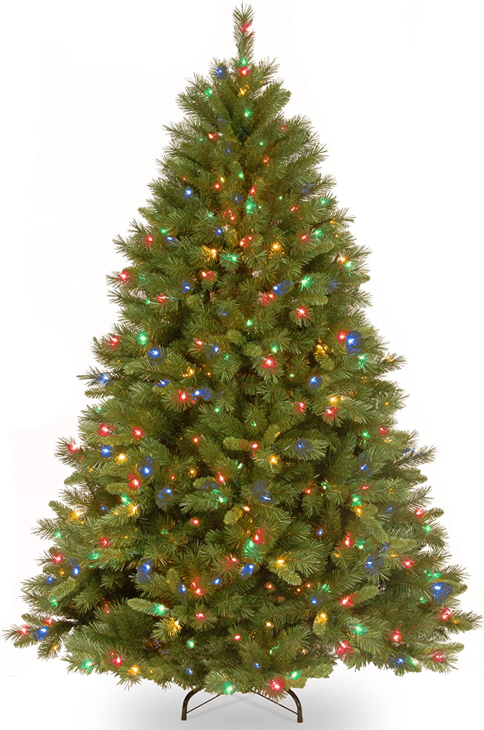 National Tree Company lit Artificial Christmas Tree   Includes Pre-Strung Multi-Color Lights and Stand   Winchester Pine-7.5 ft, 60X60X90, Green