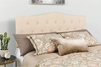 Flash Furniture Cambridge Tufted Upholstered King Size Headboard in Beige Fabric - HG-HB1708-K-B-GG