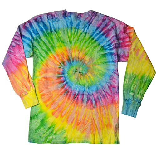 6b7874fb4be2 Colortone Youth   Adult Tie Dye Long Sleeve T-Shirt