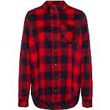 Jack Wolfskin Damen Holmstad Shirt, Ruby red Check, XL