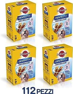 Pack de 28 Dentastix de uso diario para higiene oral para perros grandes  |  [Pack de 4]