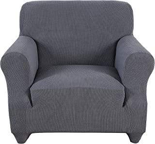 Obstal Stretch Spandex Armchair Couch Slipcover Sofa Covers for Living Room, One Piece Non Slip Chair Slipcover with Elastic Bottom, Chair Coverings Furniture Protector for Dogs, Cats, Pets, and Kids