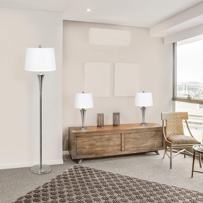 Elegant Designs LC1020-BSN 3 Pack Set Nickel Regular discount Lamp Charlotte Mall Brushed