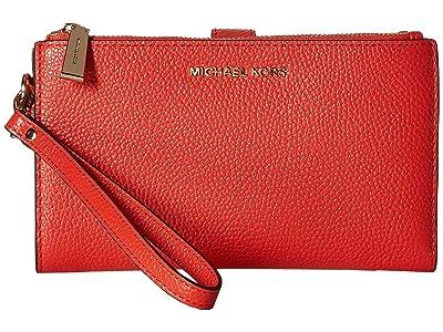 MICHAEL Michael Kors Double Zip Wristlet (Sea Coral) Wristlet Handbags