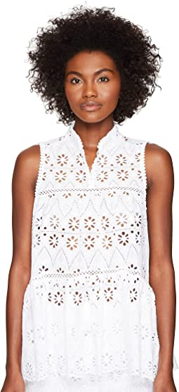 Spice Things Up Eyelet Sleeveless Top