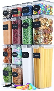Chef's Path Airtight Food Storage Containers Set - 14 PC - Kitchen & Pantry Organization - BPA-Free - Plastic Canisters wi...