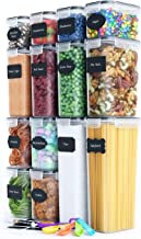 Chef's Path Airtight Food Storage Container Set - 14 PC - Kitchen & Pantry Organization - BPA-Free - Plastic Canisters wit...