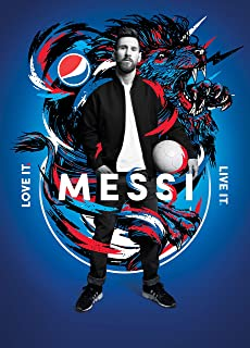 VVWV Lionel Messi The Goat Football God Posters Large Room for Wall Large Room Motivational Room Decoration L X H 30.48 X ...
