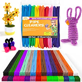 Pipe Cleaners - 350 pcs Chenille Stems for DIY Art, 30 Assorted Colors Pipe Cleaners for Decorations and Creative Crafts, ...