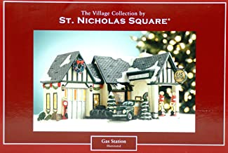 St. Nicholas Square Deluxe Village Collection Gas Station