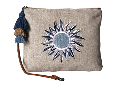 Sakroots Artist Circle Ariel Zip Pouch (Navy Spirit Desert) Tote Handbags