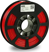 KODAK ABS Filament 1.75mm for 3D Printer, Red, Dimensional Accuracy +/- 0.03mm, 750g Spool (1.7lbs), ABS Filament 1.75 Use...