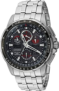 Men's 'Eco-Drive' Quartz Stainless Steel Casual Watch, Color:Silver-Toned (Model: JY8050-51E)