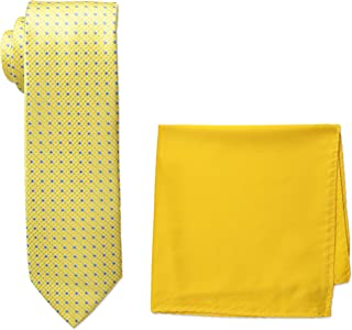 90cfb4f93ea2a Steve Harvey Men's Tall Size Extra Long Neat Woven Necktie and Solid Pocket  Square