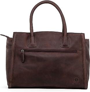 KLONDIKE 1896 Klondike Clara Handtasche Damen aus Leder, Ledertasche Schultertasche Damentasche, Lederhandtasche Henkeltasche