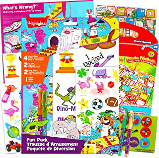 Highlights Games Puzzles Highlights Sticker Book Bundle - Kids Puzzles Magnetic Game Kids Party Games Highlights Puzzle St...